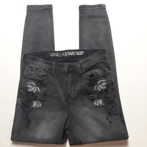 Vanilla Star High Rise Skinny jeans Black size 5
